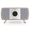 Music System Home Walnut Gray